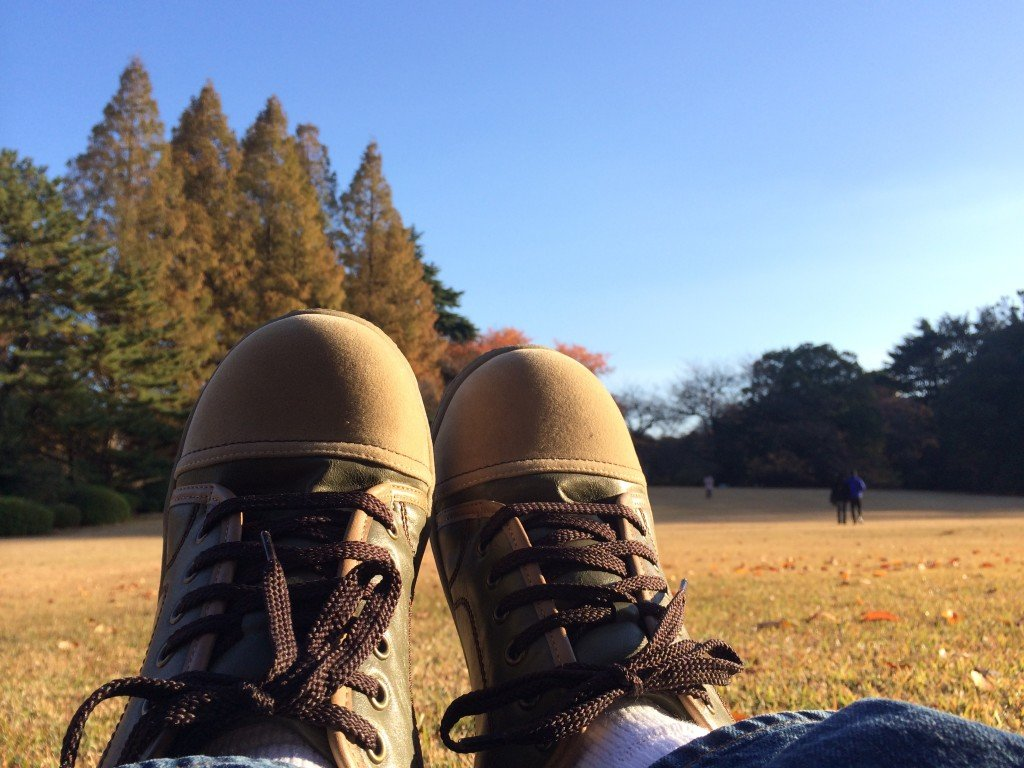 Relaxing in Shinjuku Garden