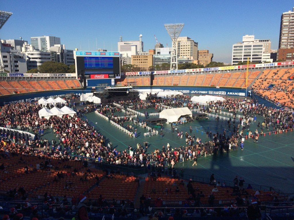 AKB48 Event at Yokohama Stadium Lines
