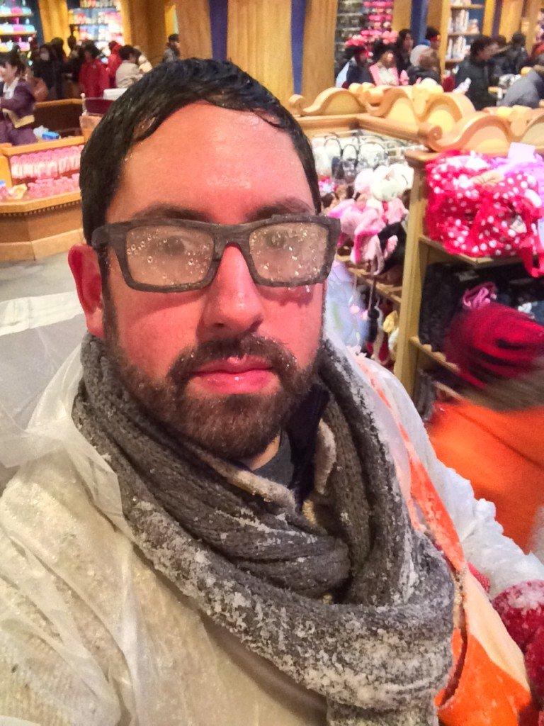 Wet and Sticky Snow in Tokyo Disneyland