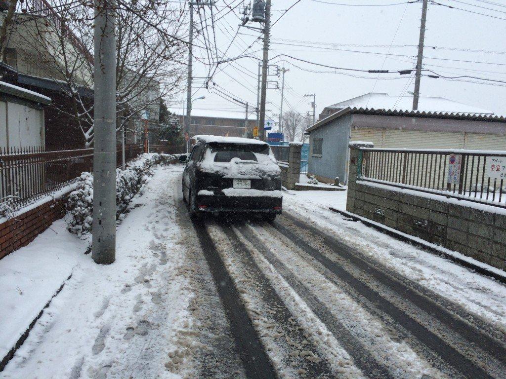 Slushy Snow in Tokyo