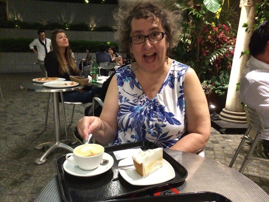 Mom Enjoying Quality Coffee